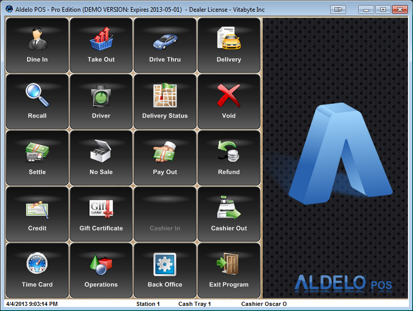 aldelo-main-screen